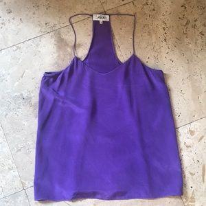 Tibi tank size 5 purple silk
